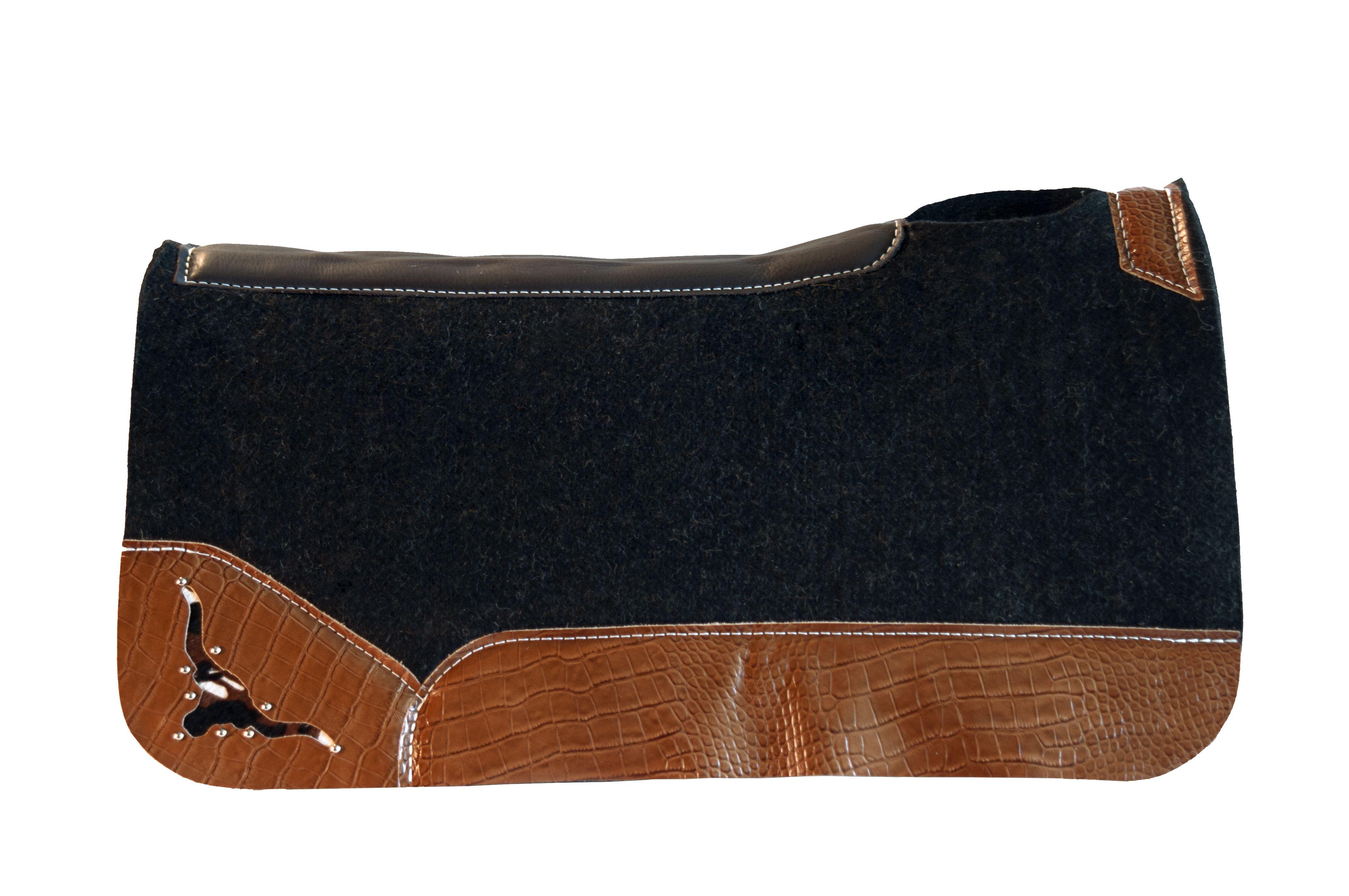 Best Ever Pads - Custom Saddle Pads - Horse Tack - Western Tack - Tobacco Croc - Longhorn - OG Wool - www.BestEverPads.com - 805-528-8009