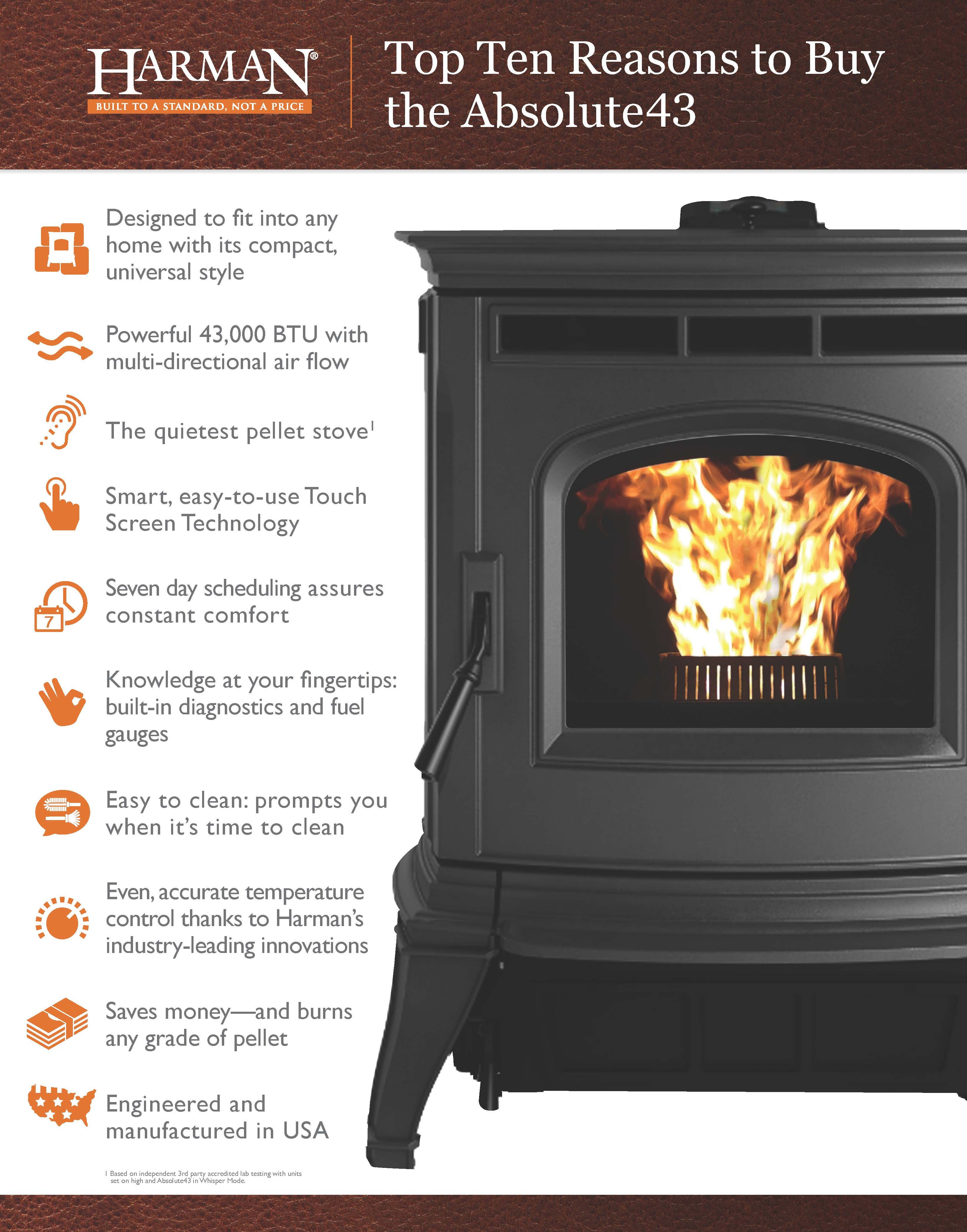 The Absolute43 Pelletstove Leads The Industry In Innovation And Accurate Heat Providing Performance And Excellence Witho With Images Pellet Stove Stove Best Pellet Stove