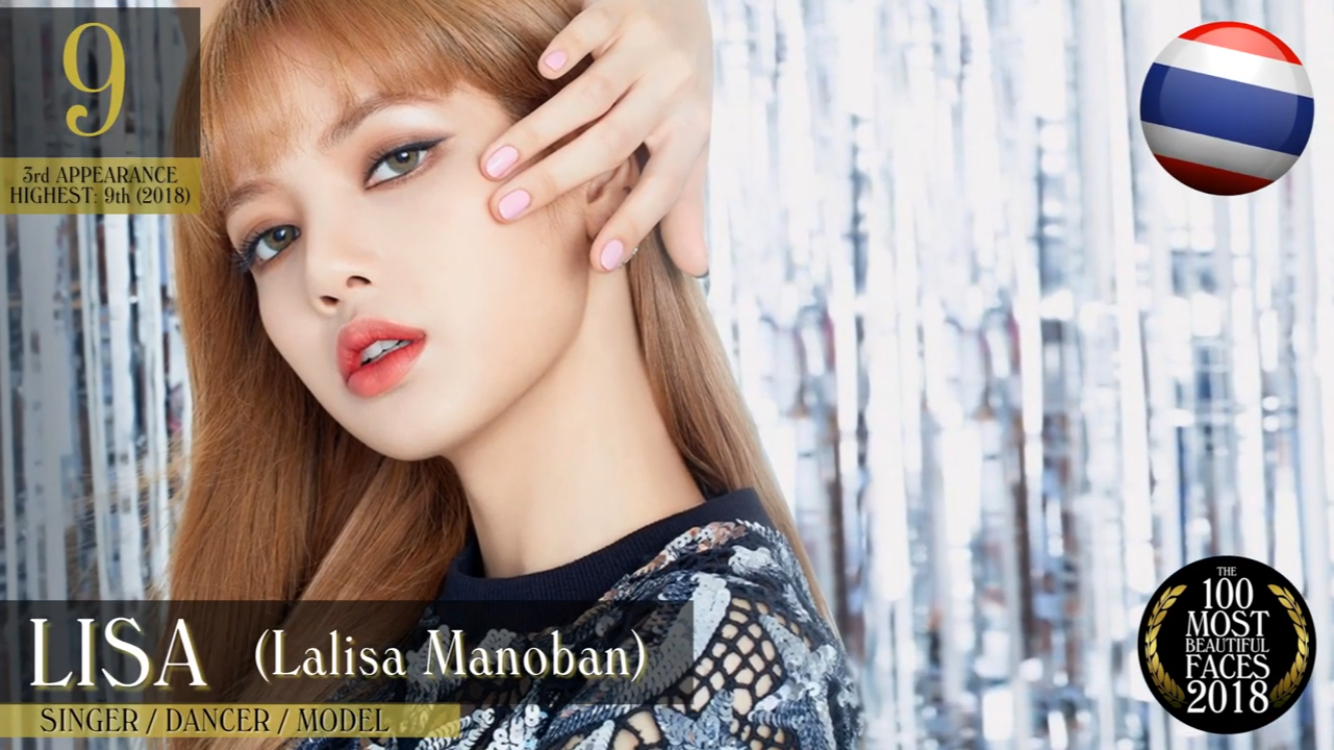 Lisa In 100 Most Beautiful Faces 2018 Most Beautiful Faces Kpop Girl Groups Beautiful Face