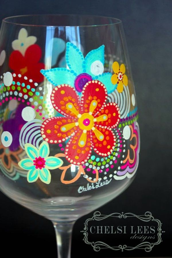 40 artistic wine glass painting ideas