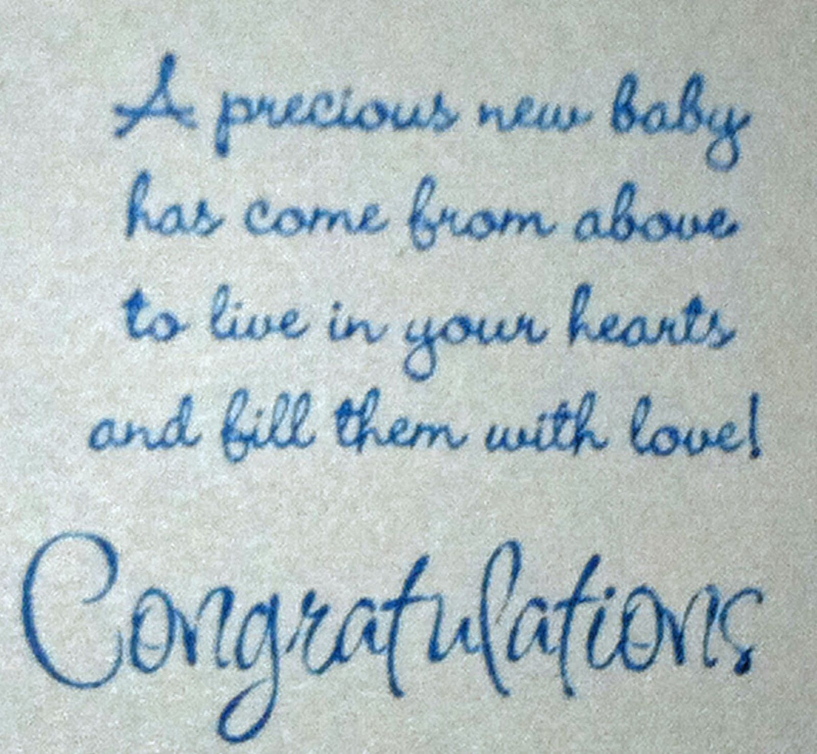 Congratulations New Baby Boy Quotes Quotesgram Babies