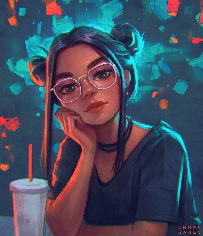Artstation fazed Angel Ganev Girly Art Digital Art
