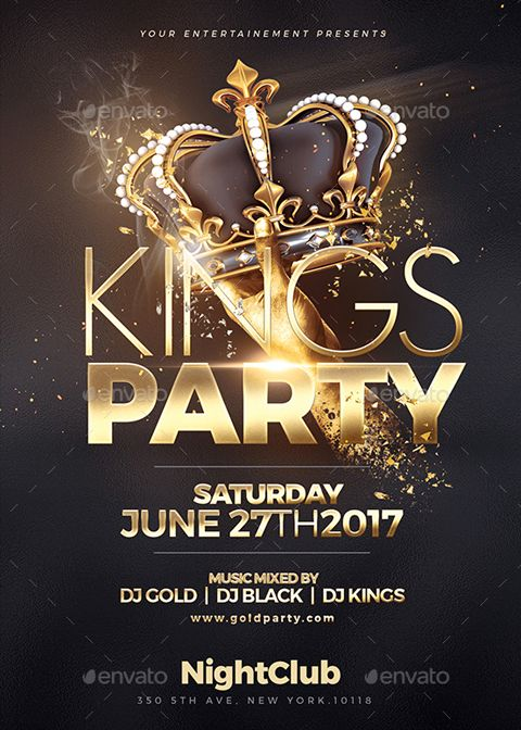 Kings Party Psd Flyer Template  Flyers    Psd Flyer