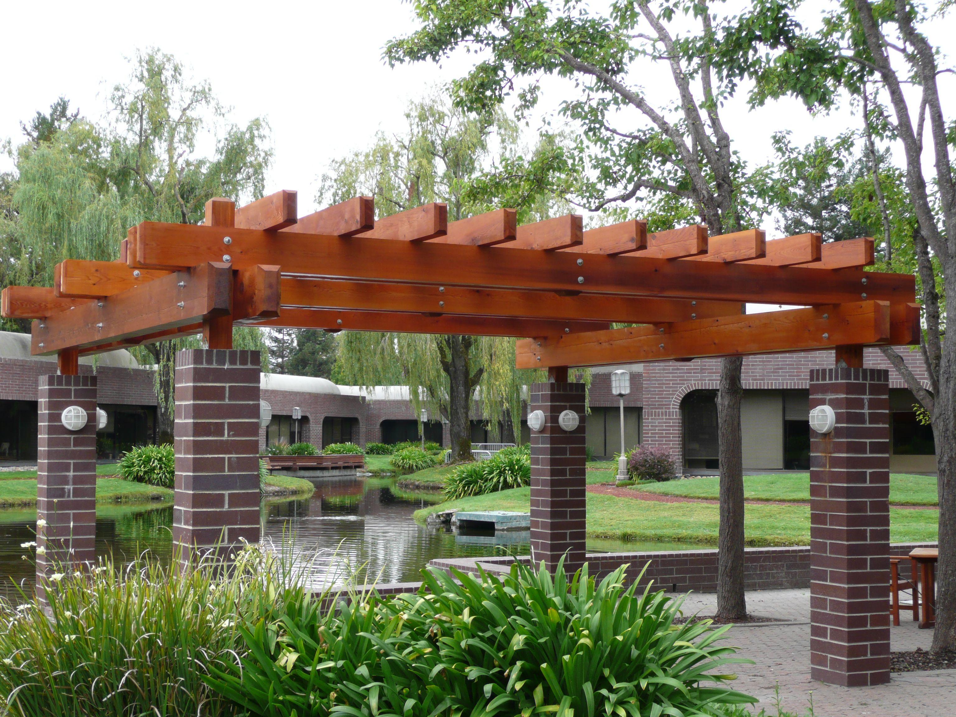 pergola decorating ideas awesome teak pergola design Brick Pergola Designs id=92286