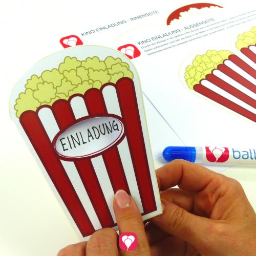 kino einladung | einladungen, einladungskarten geburtstag