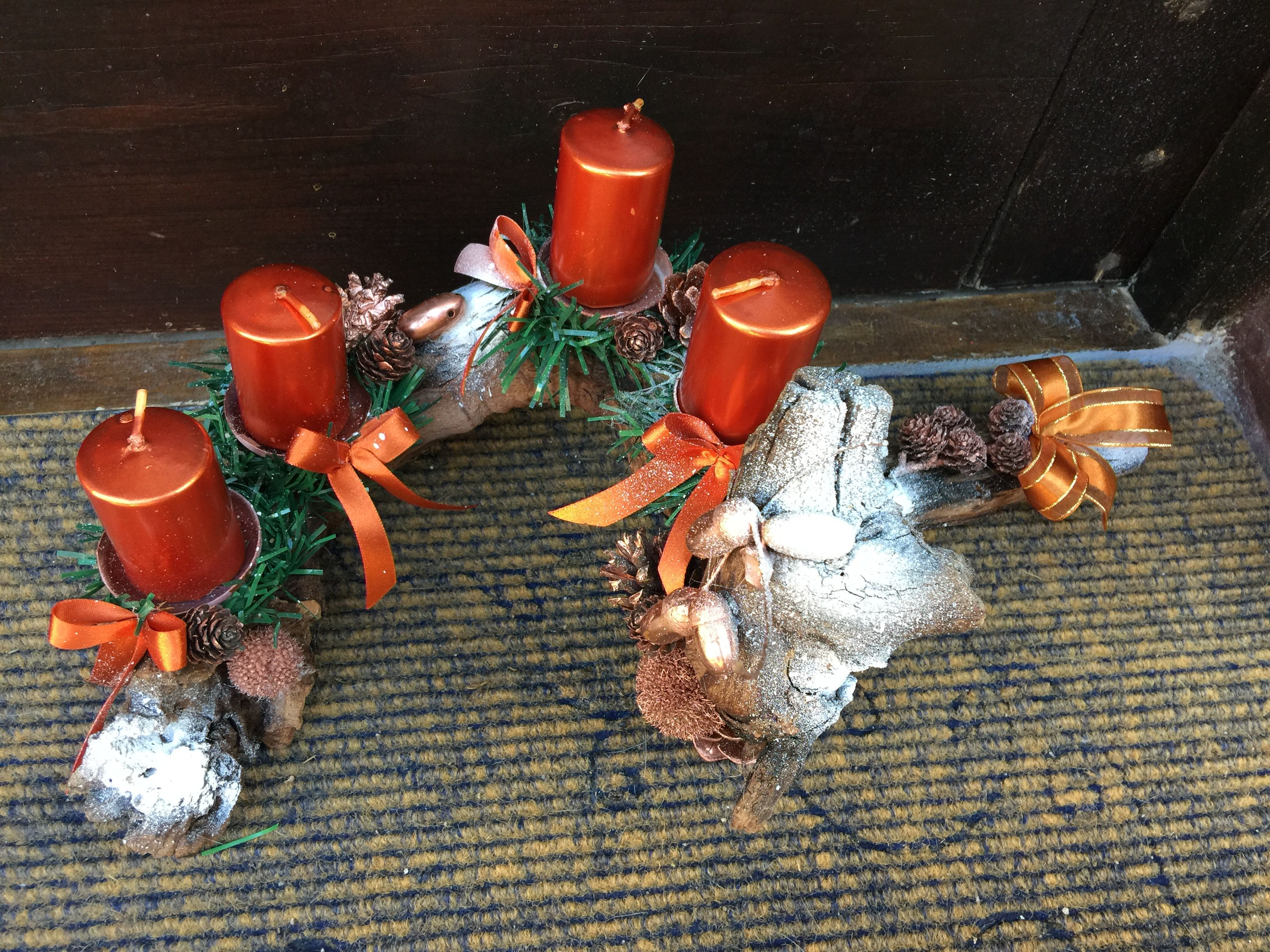 Unusual Advent Wreath, Orange Christmas Decorations