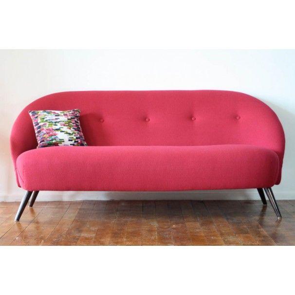 Reupholster Sleeper Sofa: Vintage 50's Cocktail Sofa, Reupholstered In Bute Wool