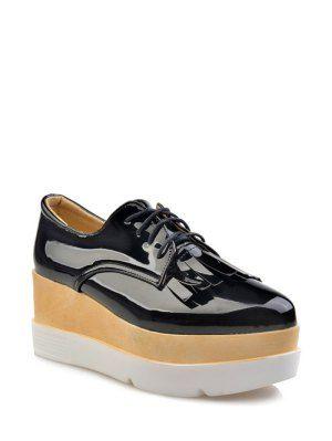Platform Shoes For Women | Black And White Platform Shoes Fashion Online | ZAFUL