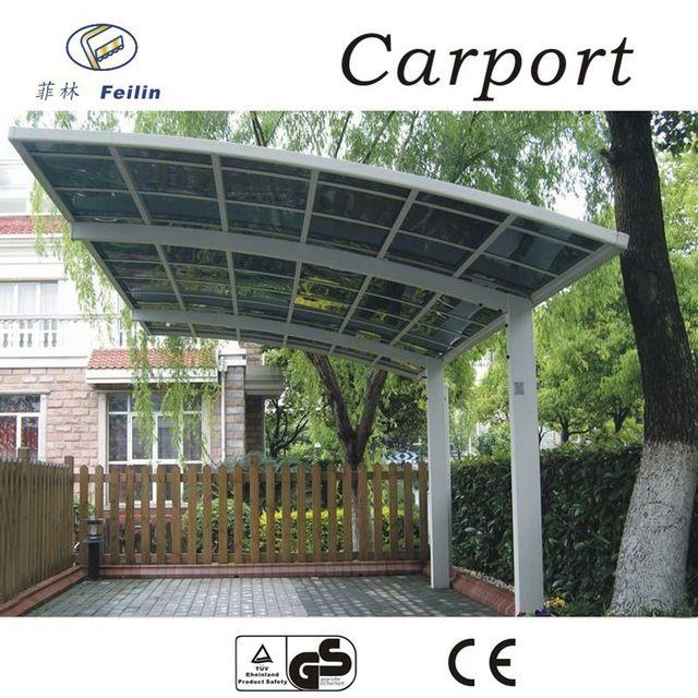 Source 100% anti-UV aluminum car garage polycarbonate ...