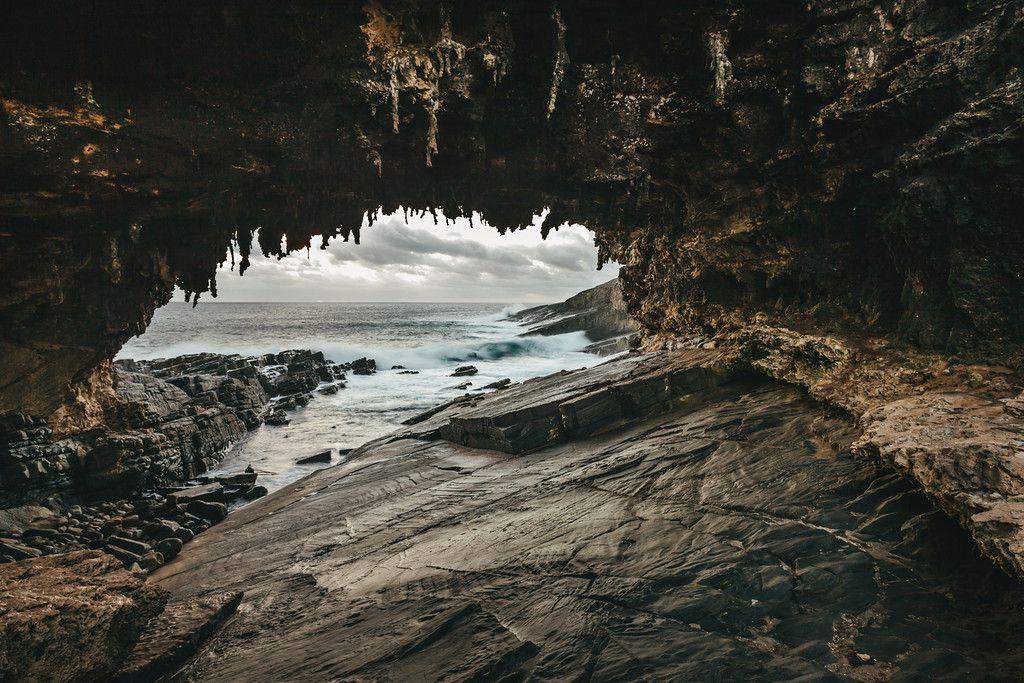 #cave #rocks #kangarooisland #ki #admiralsarch #beach #water #wallart #southaustralia #landscape #seascape