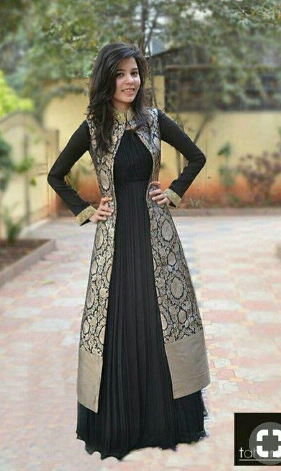 ff7762ff Traditional indo western jacket | indian wedding | Indian designer wear,  Dresses, Saree dress