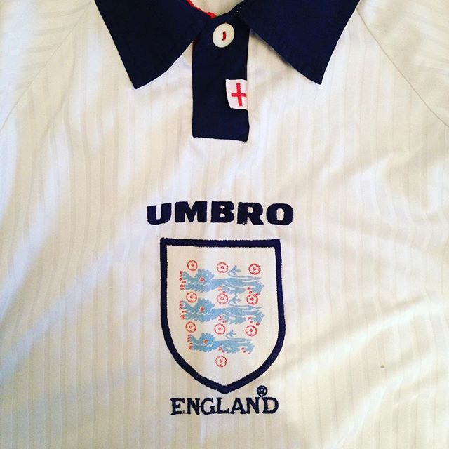 Vintage Umbro England Home Shirt As Worn At The World Cup In 1998 Is Available Again Tap The Link In Our Bio England Englandshirt Englandfootballtea Futebol
