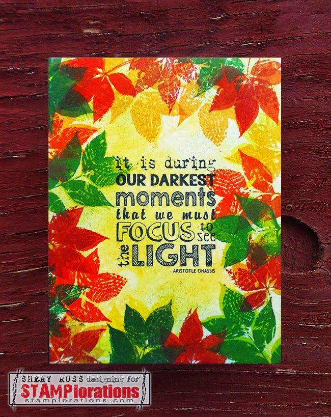 Card by Shery featuring Typografia - Stamp Release Blog Hop Day 3