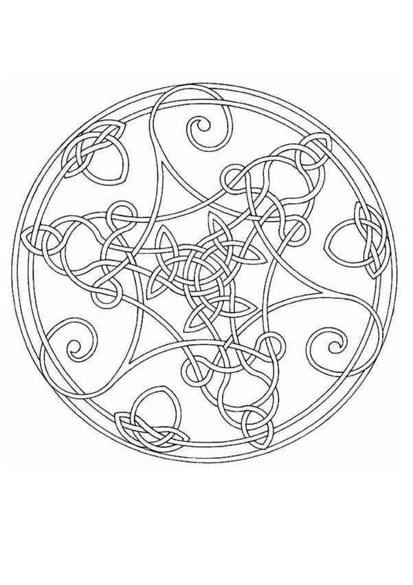 Mandalas For Advanced Mandala 65 Mandala Coloring Pages Celtic Coloring Celtic Mandala