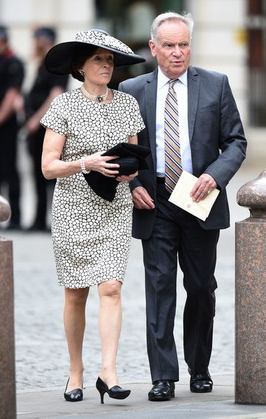Lord Archer and Lady Archer attend a National Service of Thanksgiving as part of the 90th birthday celebrations for The Queen at St Paul's Cathedral on June 10, 2016 in London, England.