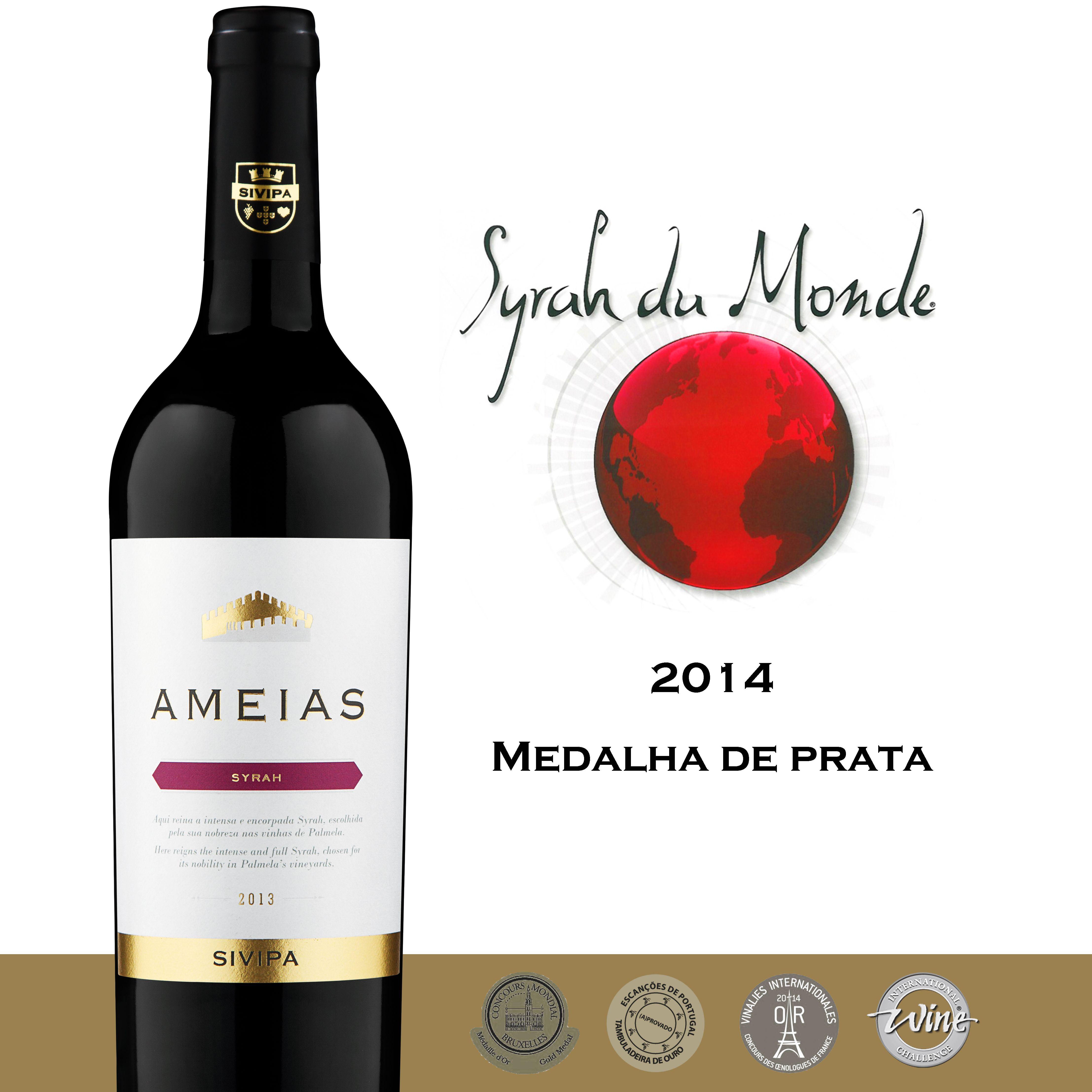 Ameias Sivipa 2013 - Silver medal Syrah du monde