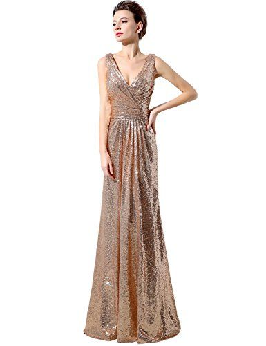 5e663882 Belle House Rose Gold Sequin Backless Wedding Guest Dress Sparkle Prom Gown  ** Be sure to check out this awesome product.