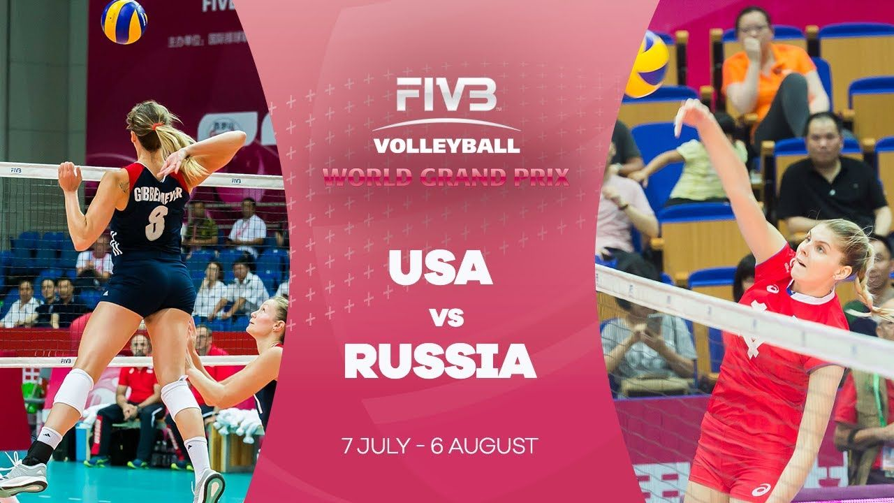 Usa V Russia Highlights Fivb World Grand Prix Female Volleyball Players Professional Volleyball Players Grand Prix