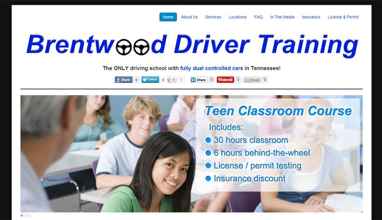 Driving School In Nashville Brentwood Franklin Drivers Education Driving School Custom Web Design