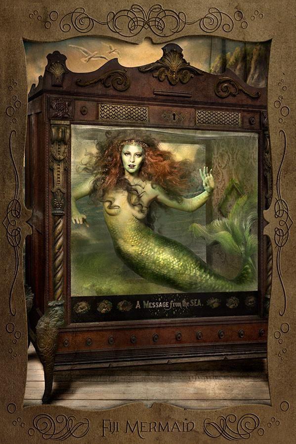 Fiji Mermaid (postcard) Mermaid art, Art, Mermaid