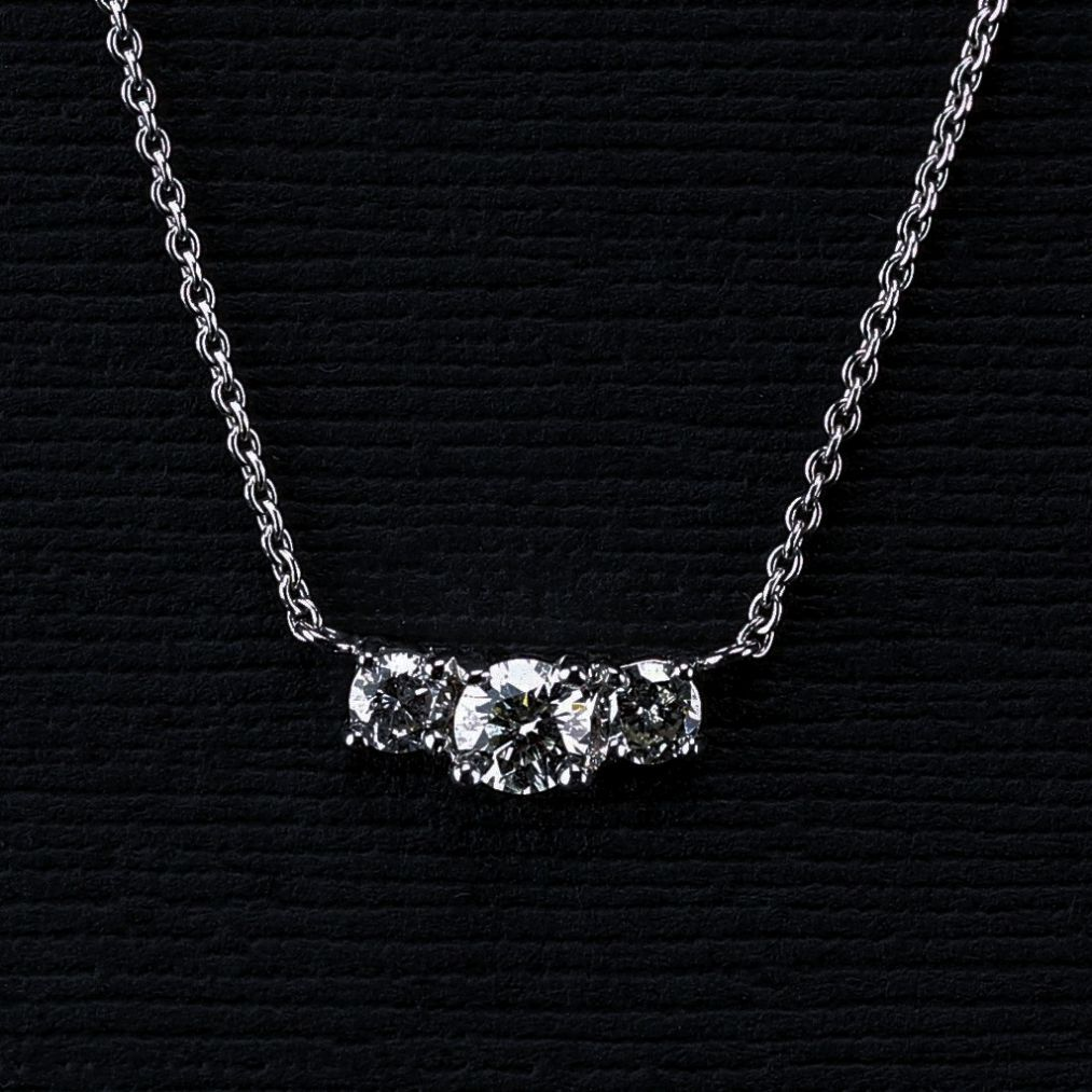 Sterling silver diamond pendant necklace for granddaughter diamond