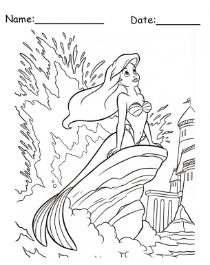 Ariel Coloring Pages for Your Little Girl  Blog  Free Printable