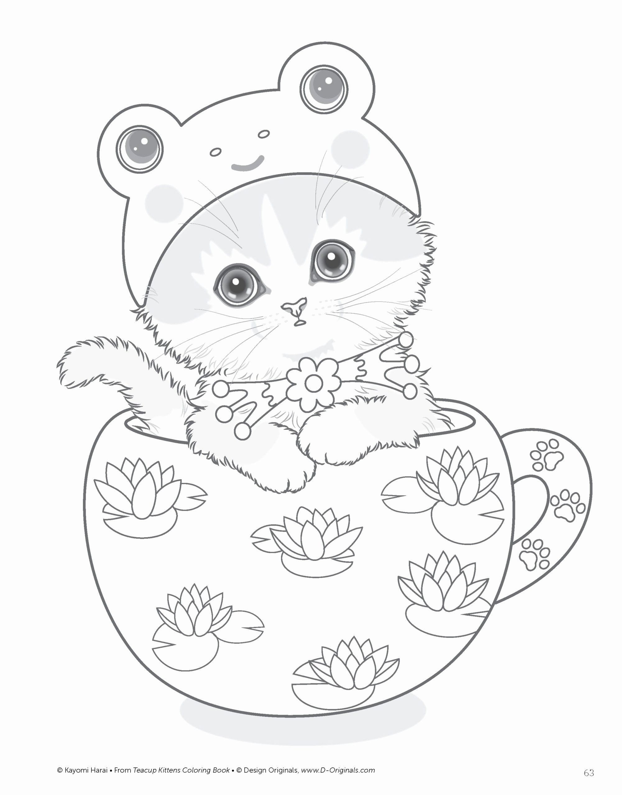 Printable Coloring Pages For Kids Cute Cat In 2020 Kitten Coloring Book Cat Coloring Book Kittens Coloring