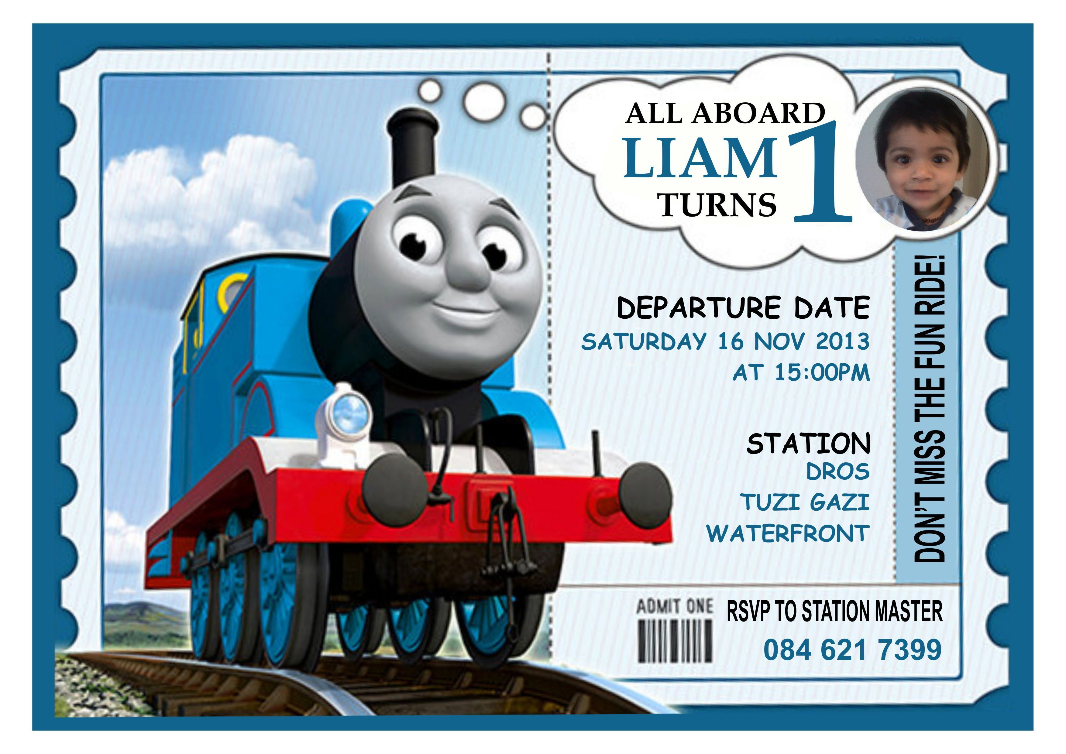 Thomas The Train Birthday Invitations Handmade Party Invitations