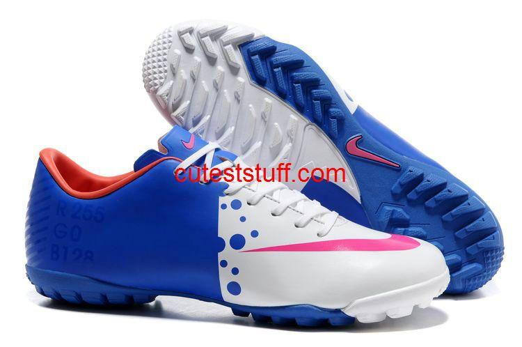 online store 2e2a4 2dd98 Nike Mercurial Vapor VIII TF Blue White Pink 44.99