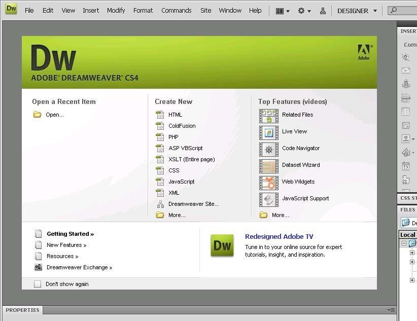 Программы по созданию сайтов dreamweaver помощь создания сайта в москве