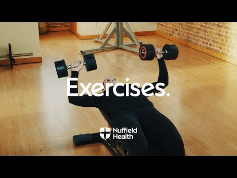 Dumbbell Chest Press Nuffield Health Youtube Chest Workouts