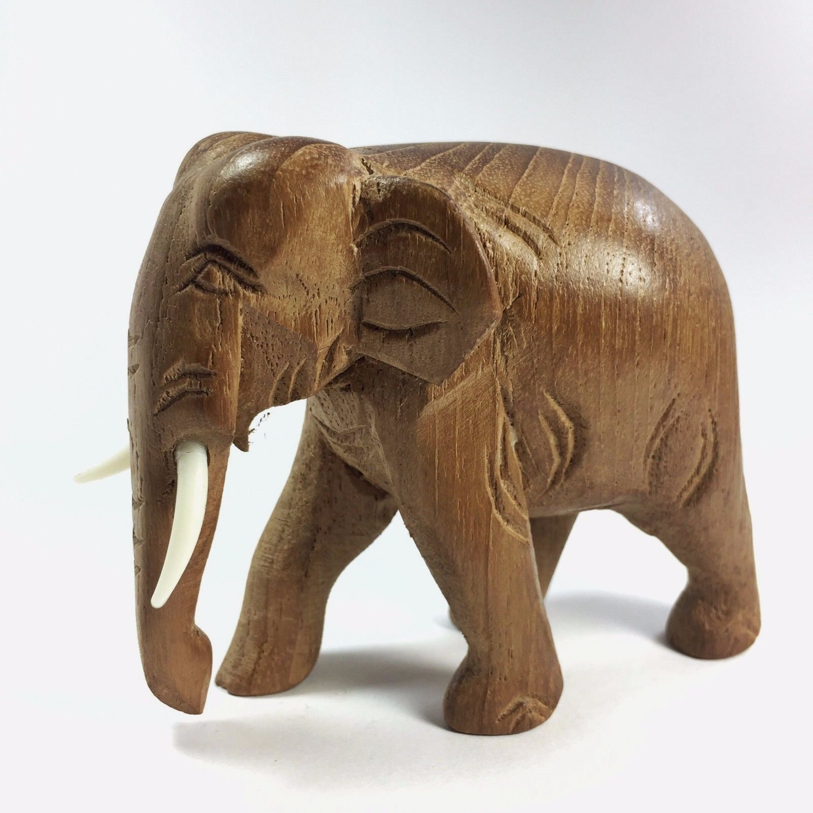Asian Antiques Home Decor Old Wooden Hand Carved Elephant