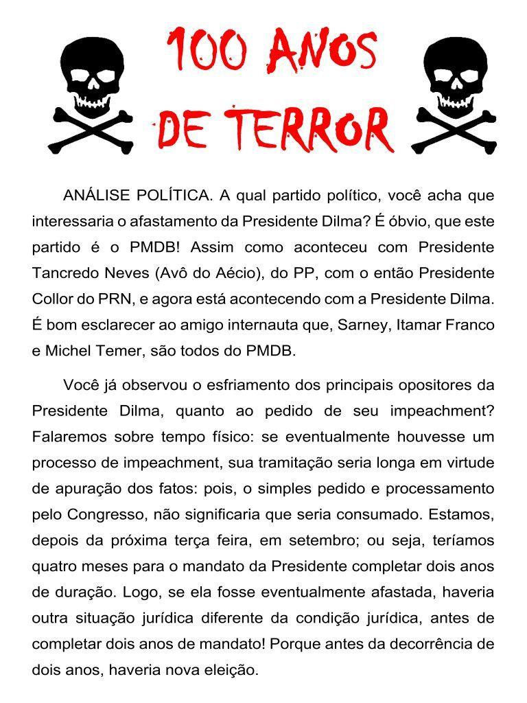 O Líder - Tanguá: 100 ANOS DE TERROR.