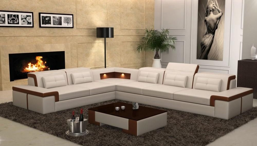 New Design Sofa Corner Sofa With Led Light Sofa In 2020 Living Room Sofa Design Modern Sofa Designs Sofa Design