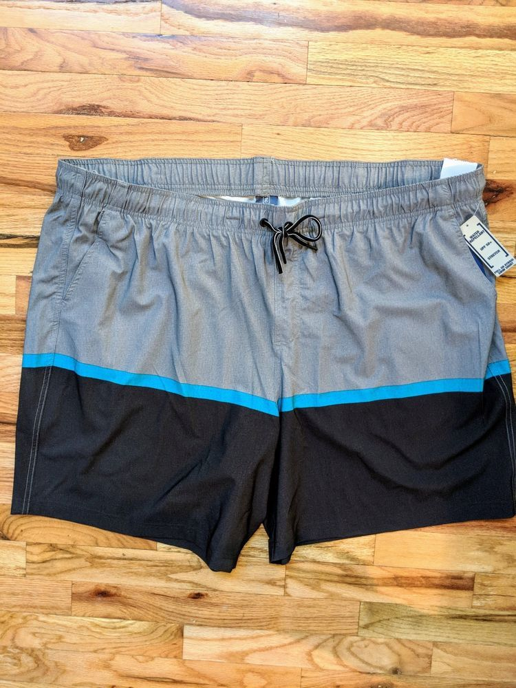 522f88121c719 George Men's Hybrid Swim Trunks Shorts Size 3XL 48-50 Gray Black Swimwear  NEW #fashion #clothing #shoes #accessories #mensclothing #swimwear (ebay  link)