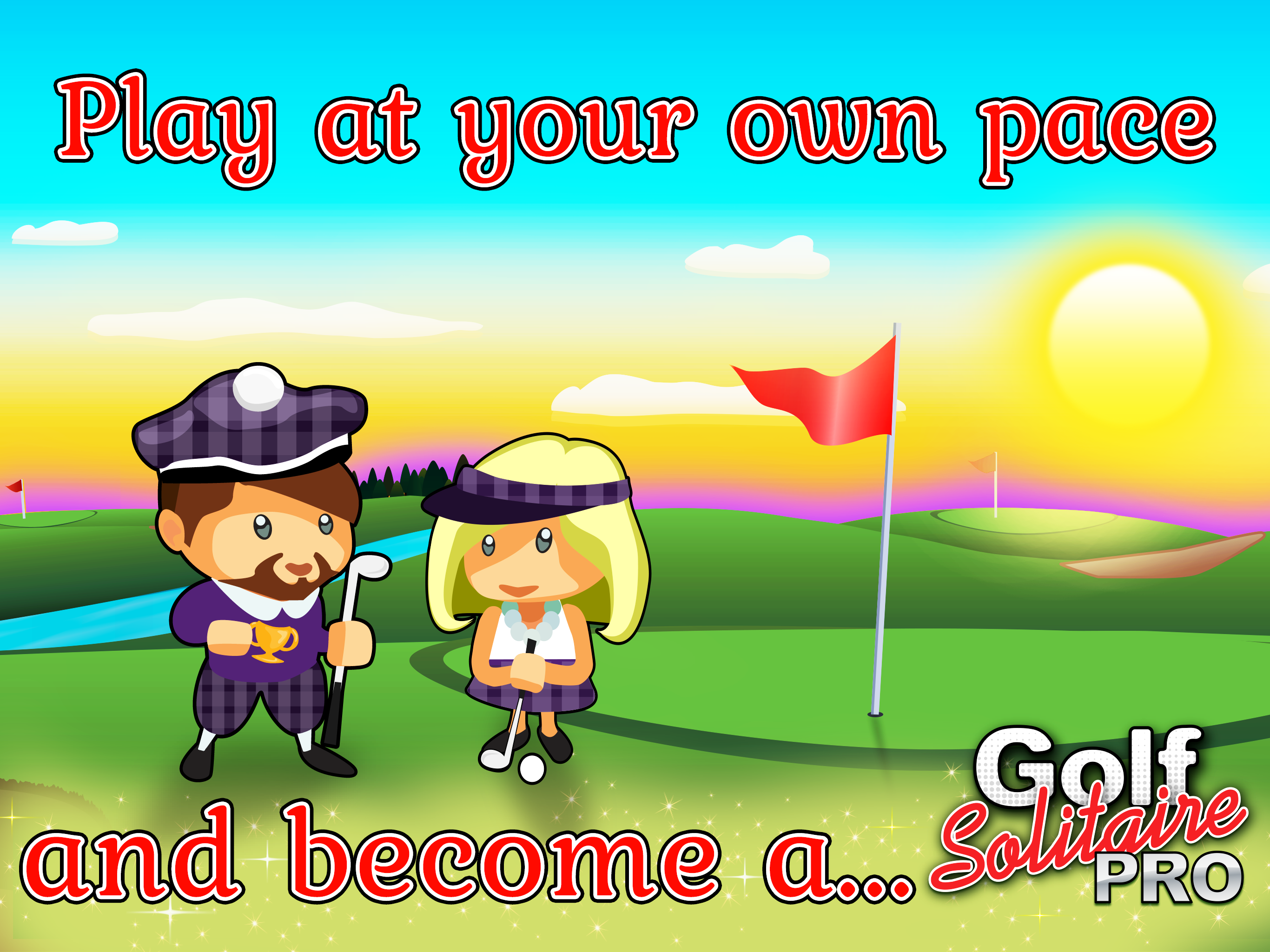 Play Golf Solitaire Pro from Glowing Eye Games, maker of