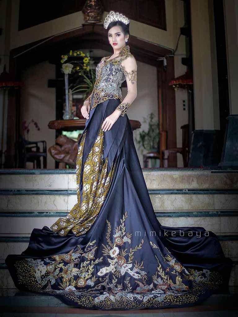 Kebaya Pengantin Hitam Keemasan Elegant Nan Glamour Mimikebaya In