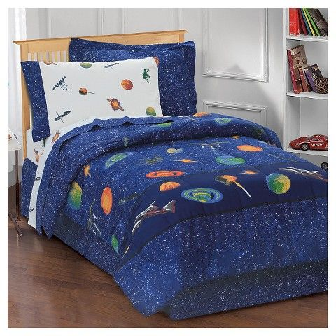 Dream Factory Outer Space Mini Bed In A Bag Boys Comforter Sets