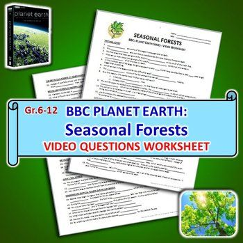 planet earth seasonal forests video worksheet editable worksheets bbc planet earth and. Black Bedroom Furniture Sets. Home Design Ideas
