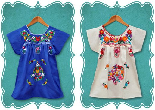 Authentic vintage Mexican embroidered dress