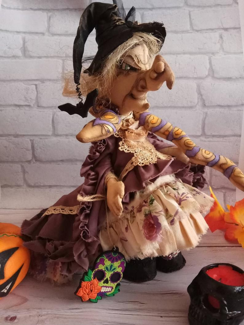 Kitchen Witch Doll Bad Witch Witchy Decor In 2020 With Images