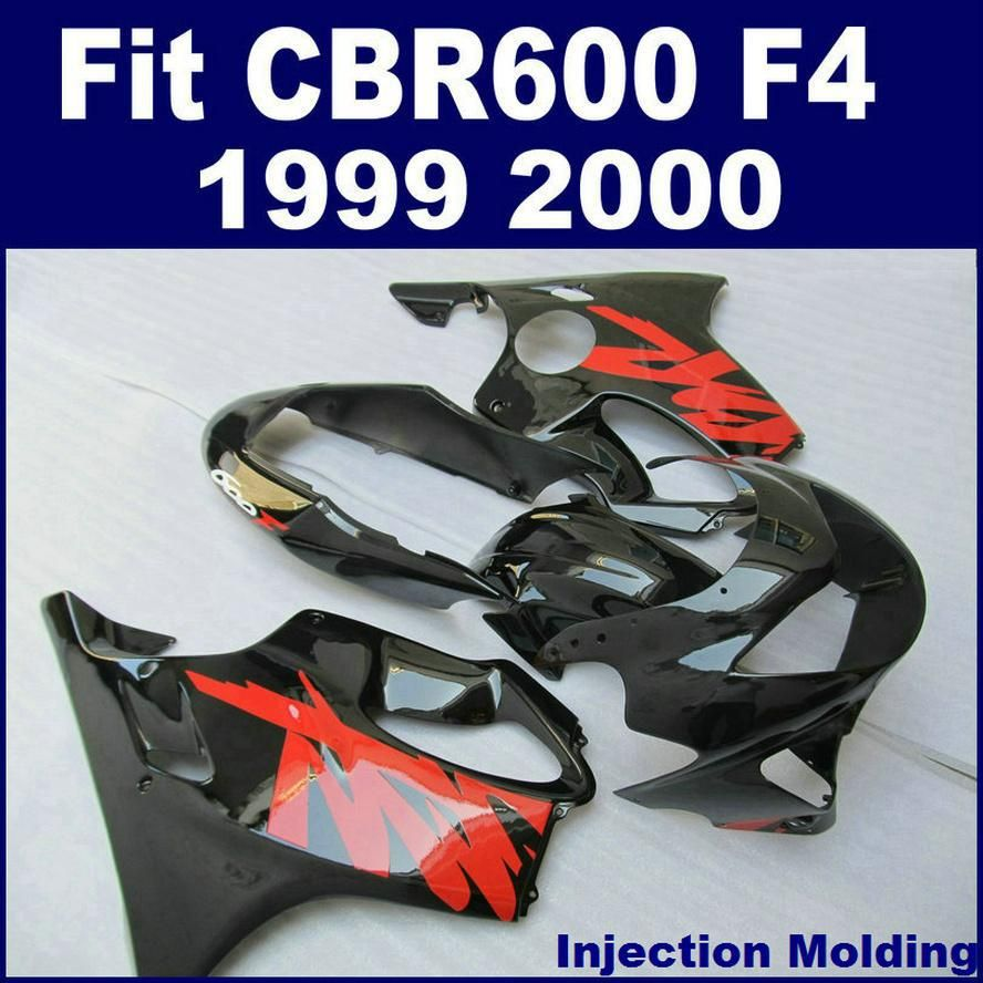 7Gifts 100 Fit For HONDA Fairing Parts CBR 600 F4 1999 2000 Black Red 99
