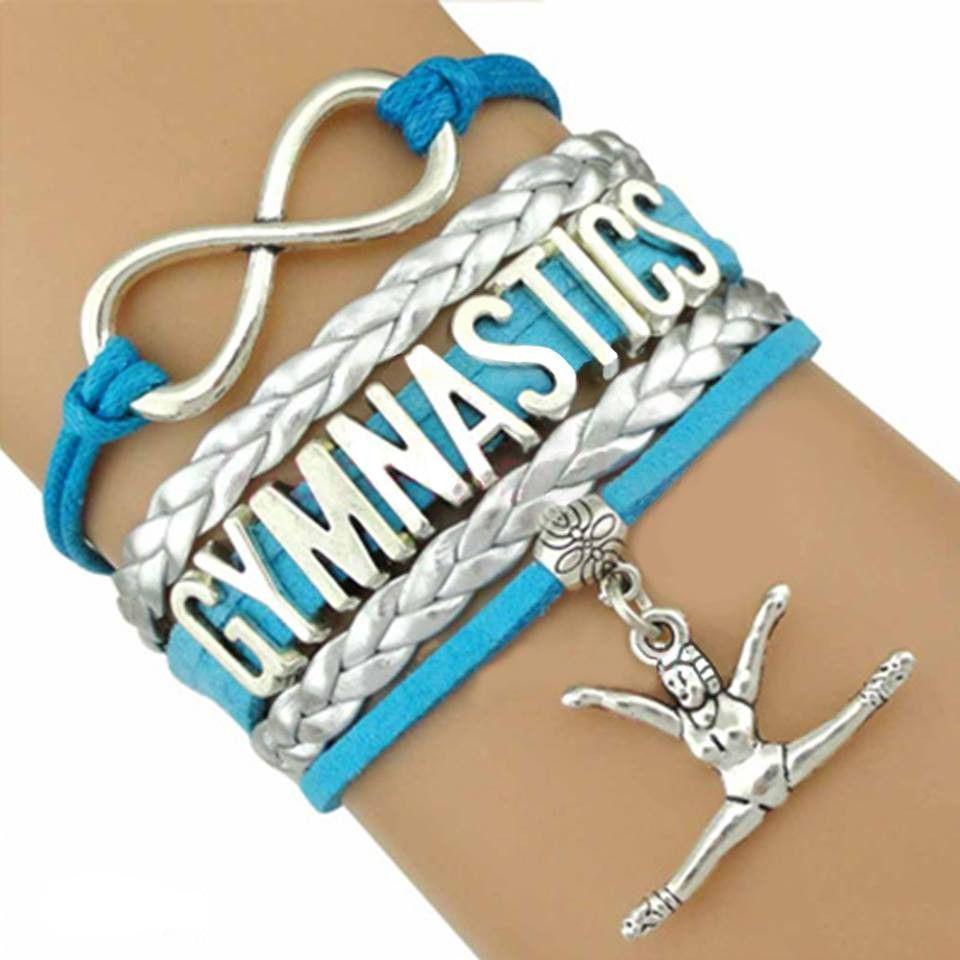 Infinity love gymnastics bracelet gymnastics and gymnastics stuff