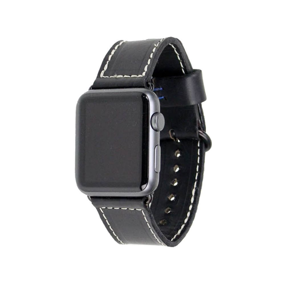 Premium Leather Apple Watch Band 38mm Black Apple watch