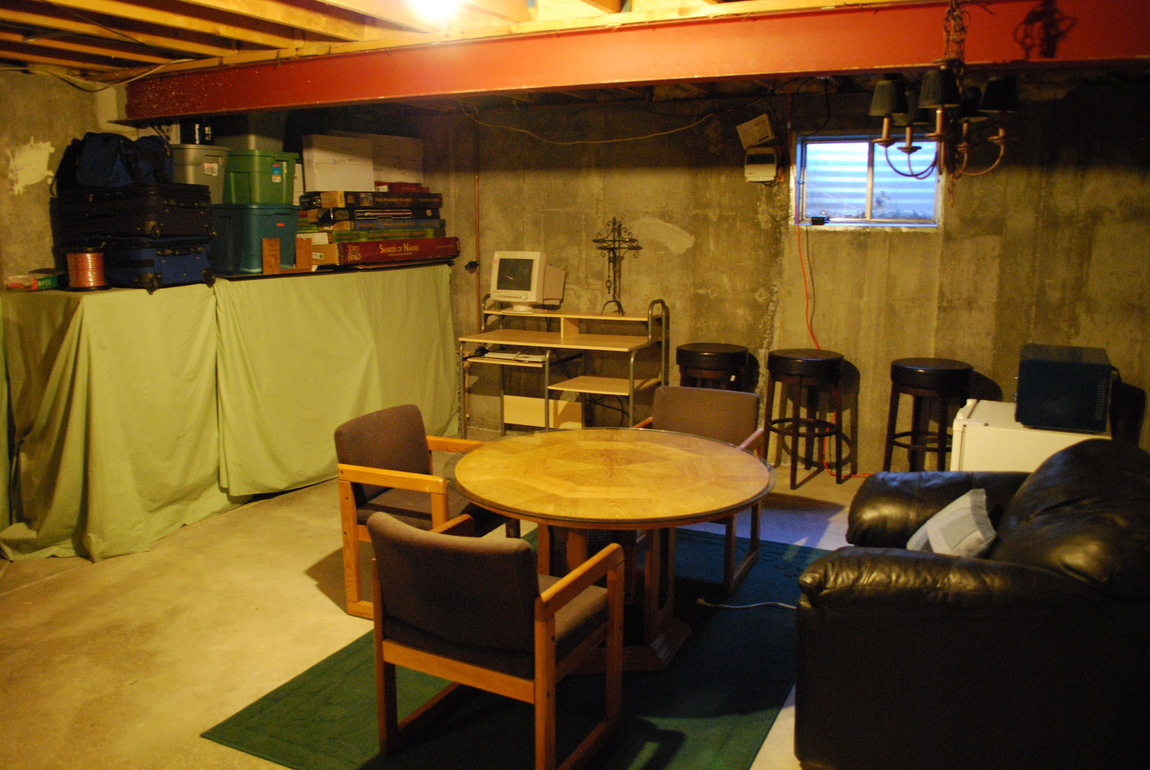 unfinished basement man cave Google Search man cave Pinterest