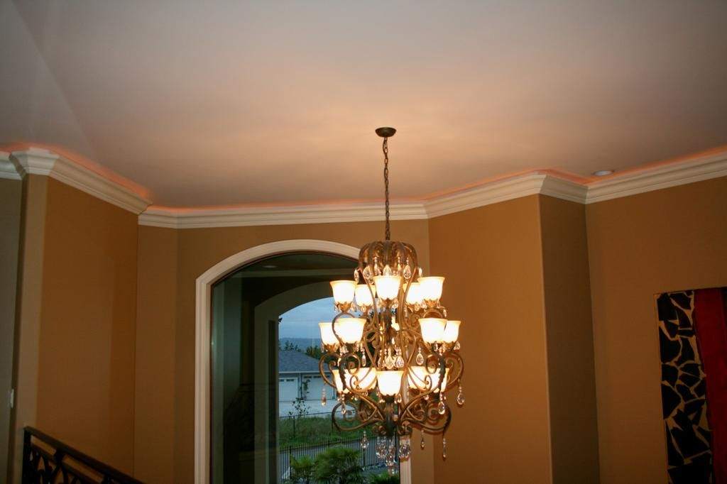 Crown molding with rope lights caught my eye pinterest rope crown molding with rope lights mozeypictures Images