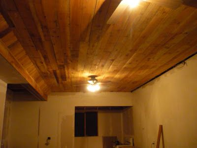 my beautiful redwood ceiling is finally in!!