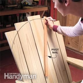 how to make an adirondack chair and love seat stuhl stuhl holz und zimmerer. Black Bedroom Furniture Sets. Home Design Ideas