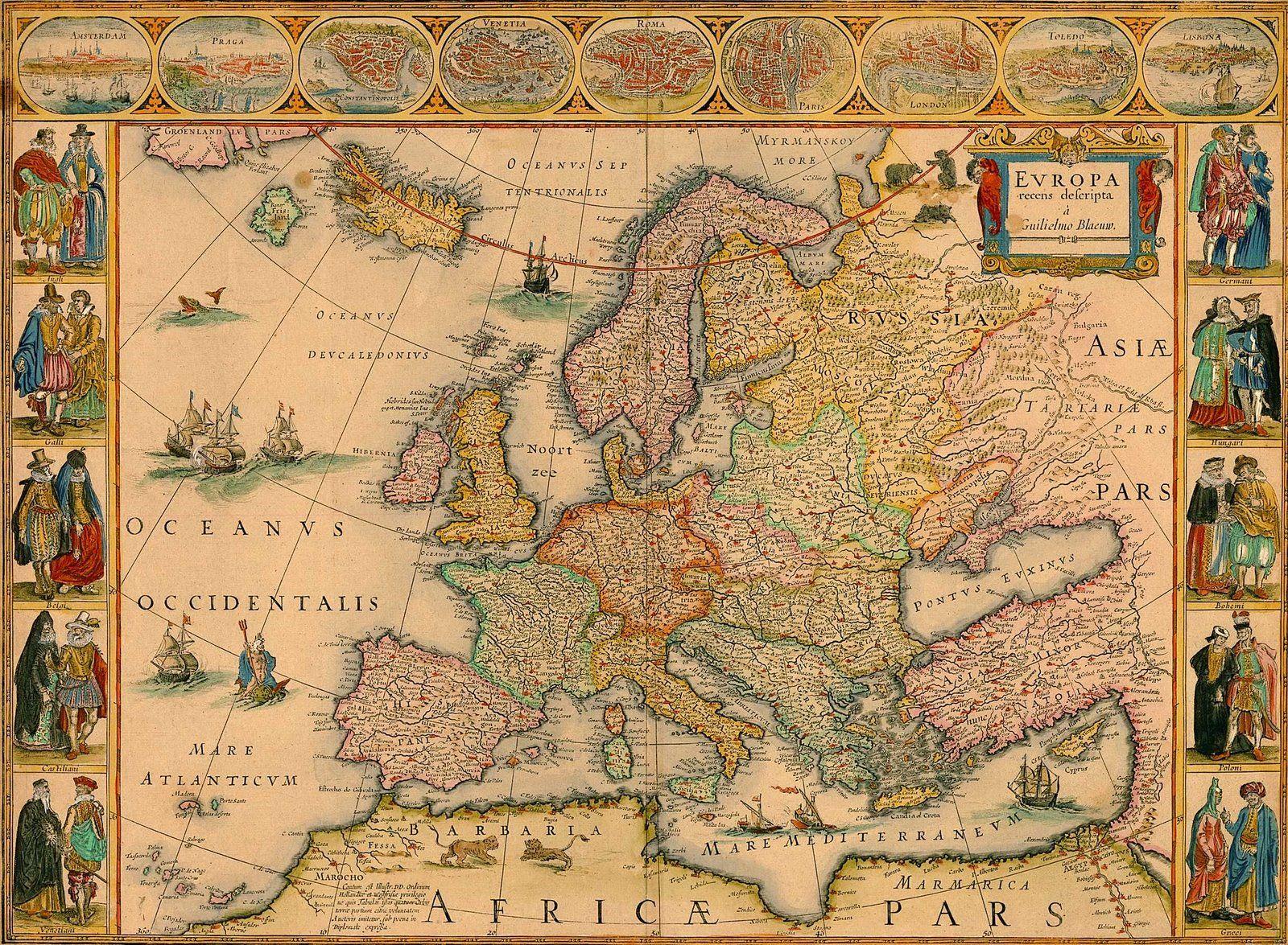 Europa Mapas Antiguos Mapas Clasicos Mapas