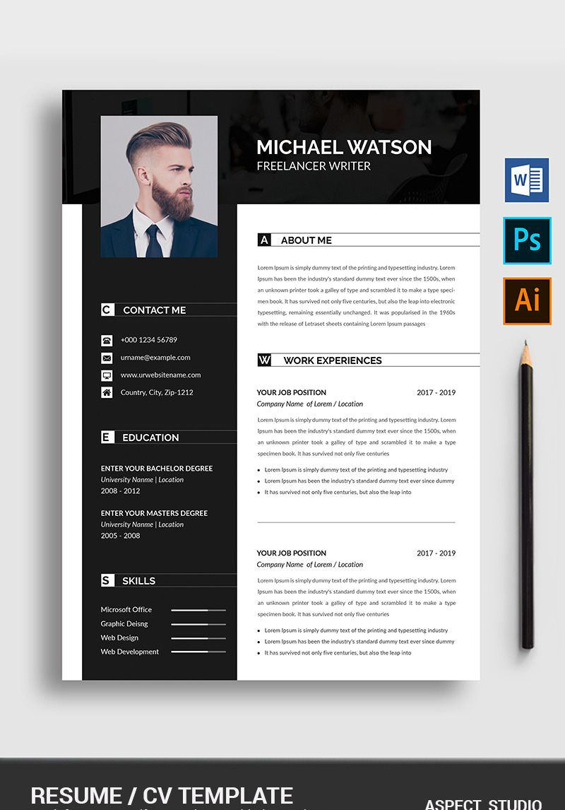 Pin on Copywriter Resume Template